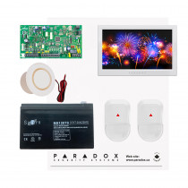 Paradox MG5050 NV Kit with Small Cabinet, 2x NV5 PIRs & White TM70