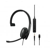 EPOS | Sennheiser ADAPT 135 USB-C II Monaural Headset - UC & 3.5mm