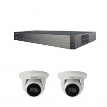 Hanwha Wisenet NVR Kit QRN-410S NVR 3TB  2x QNE-8011R Turrets