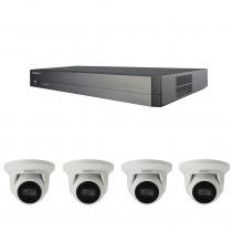 Hanwha Wisenet NVR Kit QRN-810S NVR 3TB  4x QNE-8011R Turrets