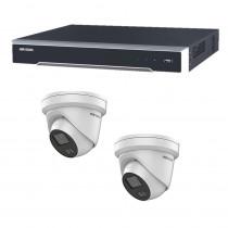 Hikvision 4 Channel kit with 2 AcuSense Strobe Speaker Turrets