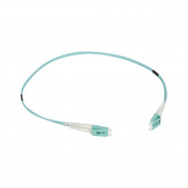 Legrand Fibre Optic Patch Cord - OM4 - SC/SC Duplex - 50/125MU - Multimode - Aqua - 0.5m
