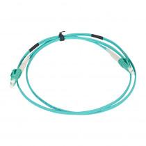Legrand Fibre Optic Patch Cord - OM4 - SC/SC Duplex - 50/125MU - Multimode - Aqua - 1m
