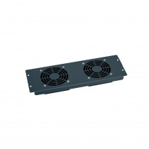 "Legrand 19"" Plate - 3U with 2 x 230v Fans - Grey RAL7016"