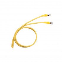 Legrand Cat6a Patch Cord - RJ45 - S/FTP - Yellow - 1m - PVC