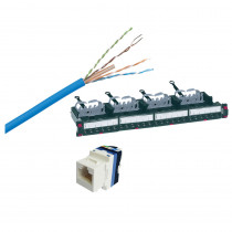 Legrand Bundle 1 - 1 x Box of Cat6 Cable - 10 x Cat6 Toolless Jacks - 1 x LCS3 Cat6 Loaded Patch Panel