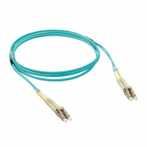 Legrand Fibre Optic Patch Cord - OM3 - LC/LC Duplex - 50/125MU - Multimode - Aqua - 1m