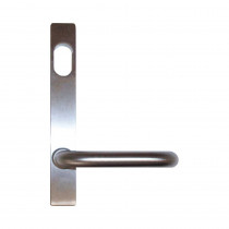 Lockwood 4801/70SC - External Plate & Lever with Cylinder Hole - 23mm Narrow Backset