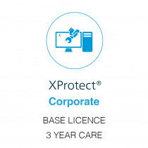 Milestone XProtect Corporate Base Licence - 3 Year Care Plus