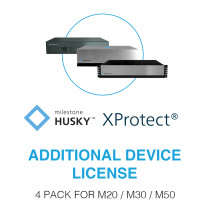 Milestone Husky™ XProtect® Additional Device License - 4 Pack
