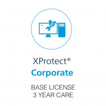 Milestone XProtect Corporate Base License - 3 Year Care Plus