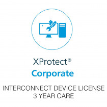 Milestone XProtect Corporate Interconnect Camera License - 3 Year Care Plus