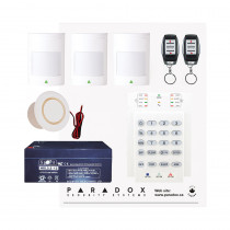 Paradox MG5050 Wireless Kit with Small Cabinet, K10V Keypad & REM15 Remotes