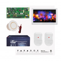 Paradox SP5500 NV Kit with Small Cabinet, 2x NV5 PIRs & TM70 Touch - White