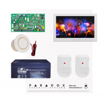 Paradox MG5050 NV Kit with Small Cabinet, 2x NV5 PIRs & White TM70 Touch