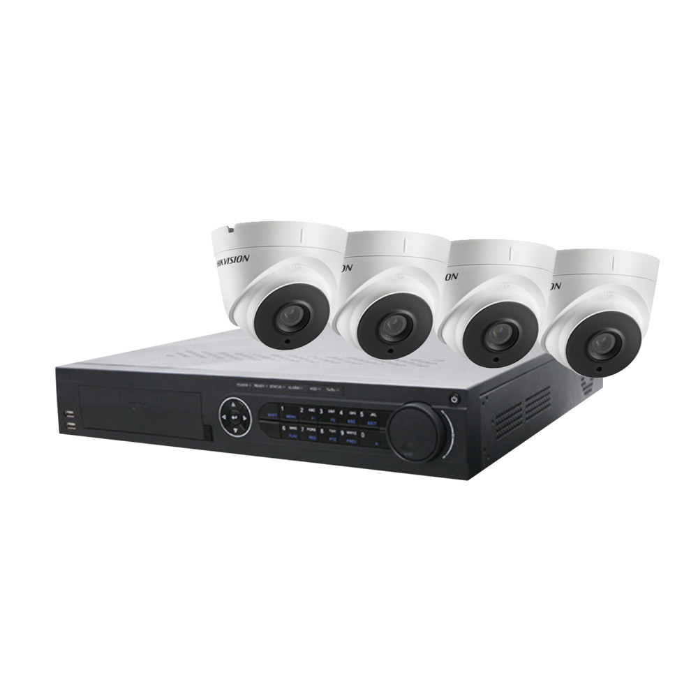 Hikvision 16 Channel Starter Kit - Includes 16CH TVI recorder with 4 x 5MP TVI Turret Cameras