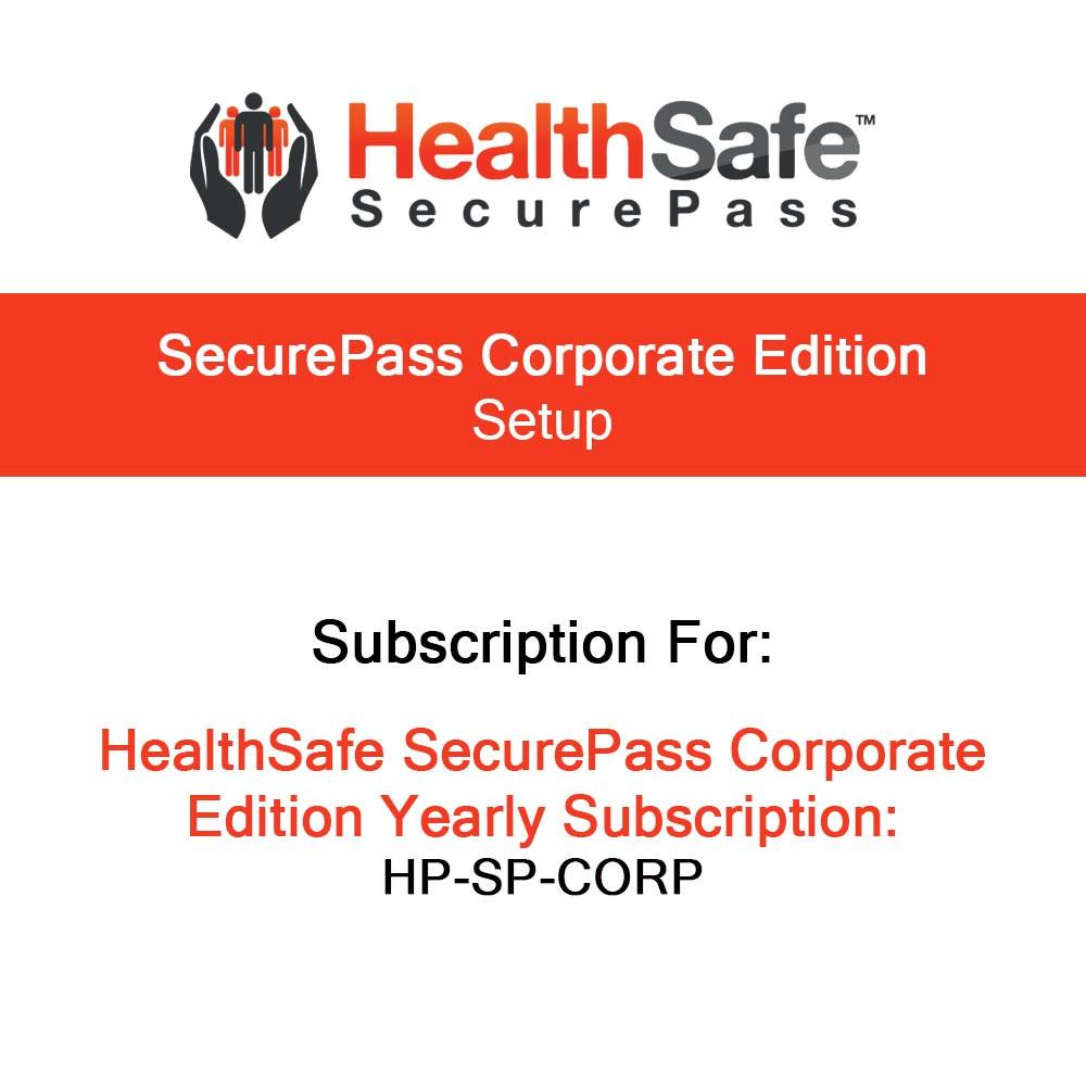 HealthSafe SecurePass Corporate Setup