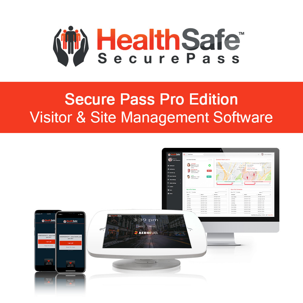 HealthSafe SecurePass Pro Edition - Vistitor & Site Management Software