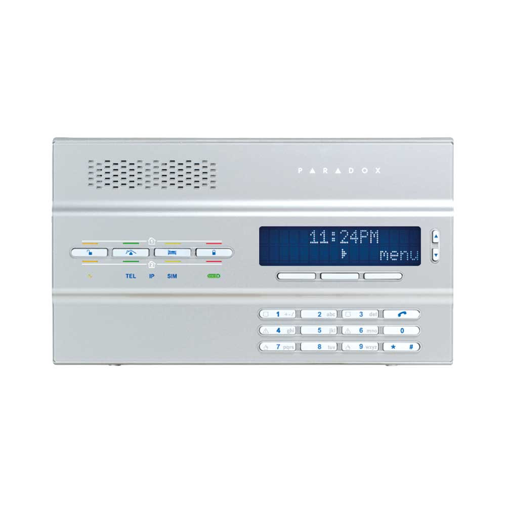 Paradox MG6250 64 Zone Wireless Control Panel with PA7 Plug Pack