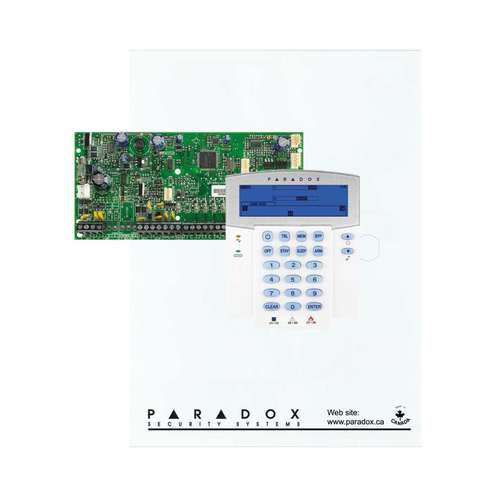 Paradox SP5500 with Small Cabinet & K35 32 Zone Icon Keypad