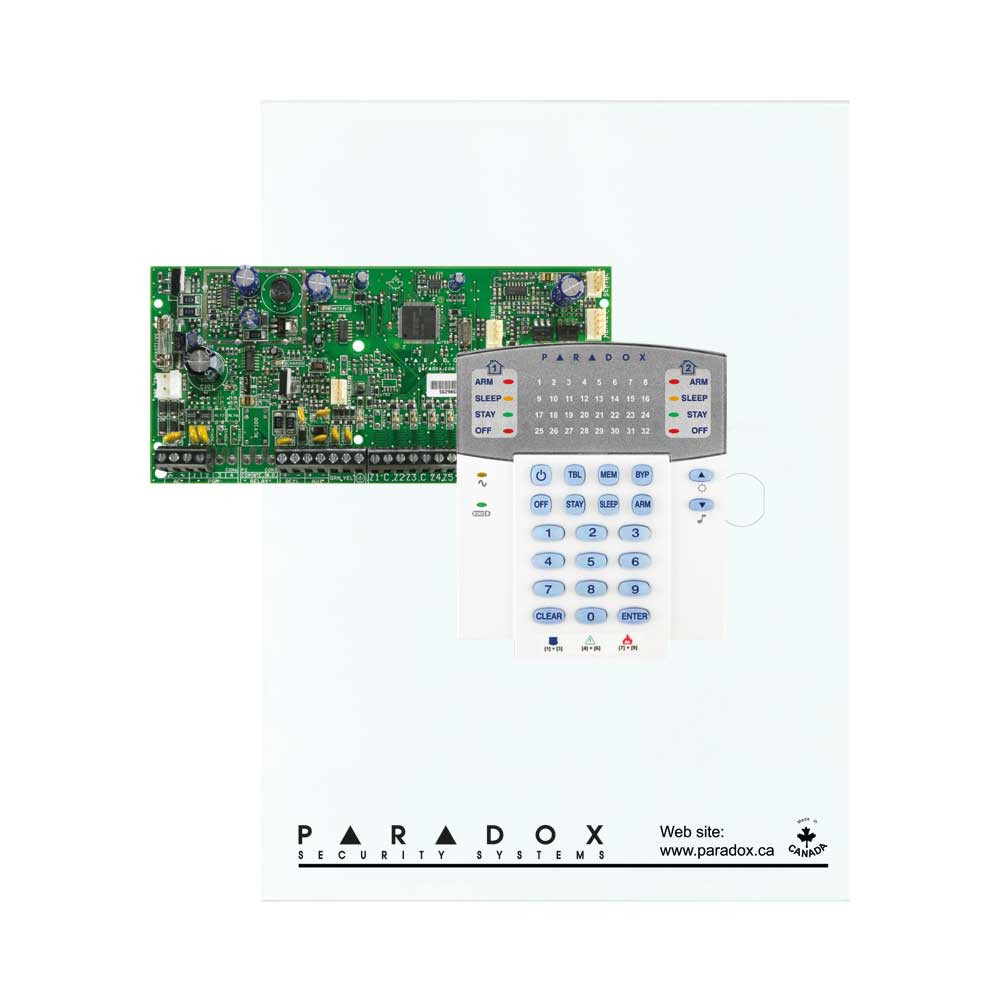 Paradox SP5500 with Small Cabinet & K32 LED Keypad
