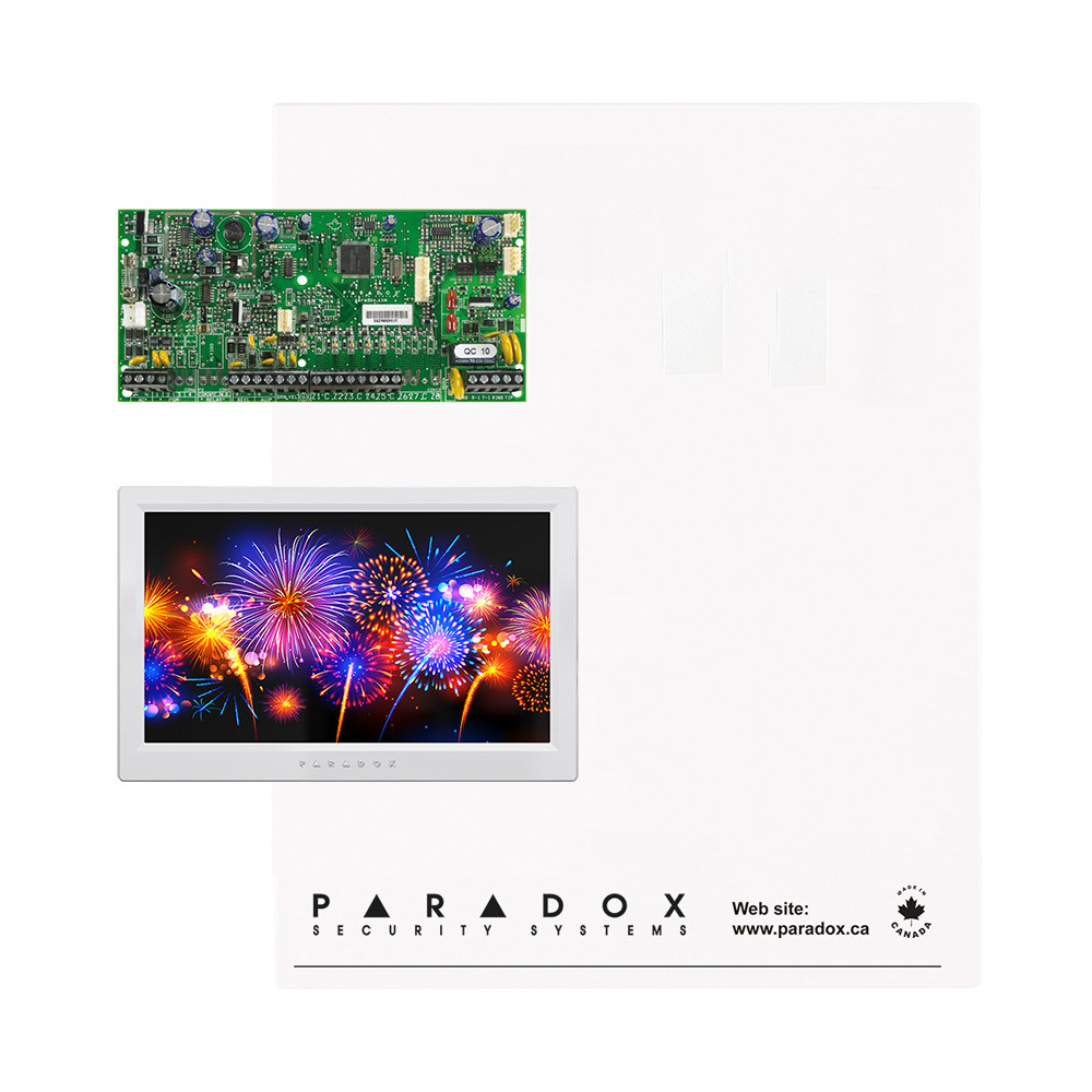 Paradox SP5500 Kit with Small Cabinet & White TM70