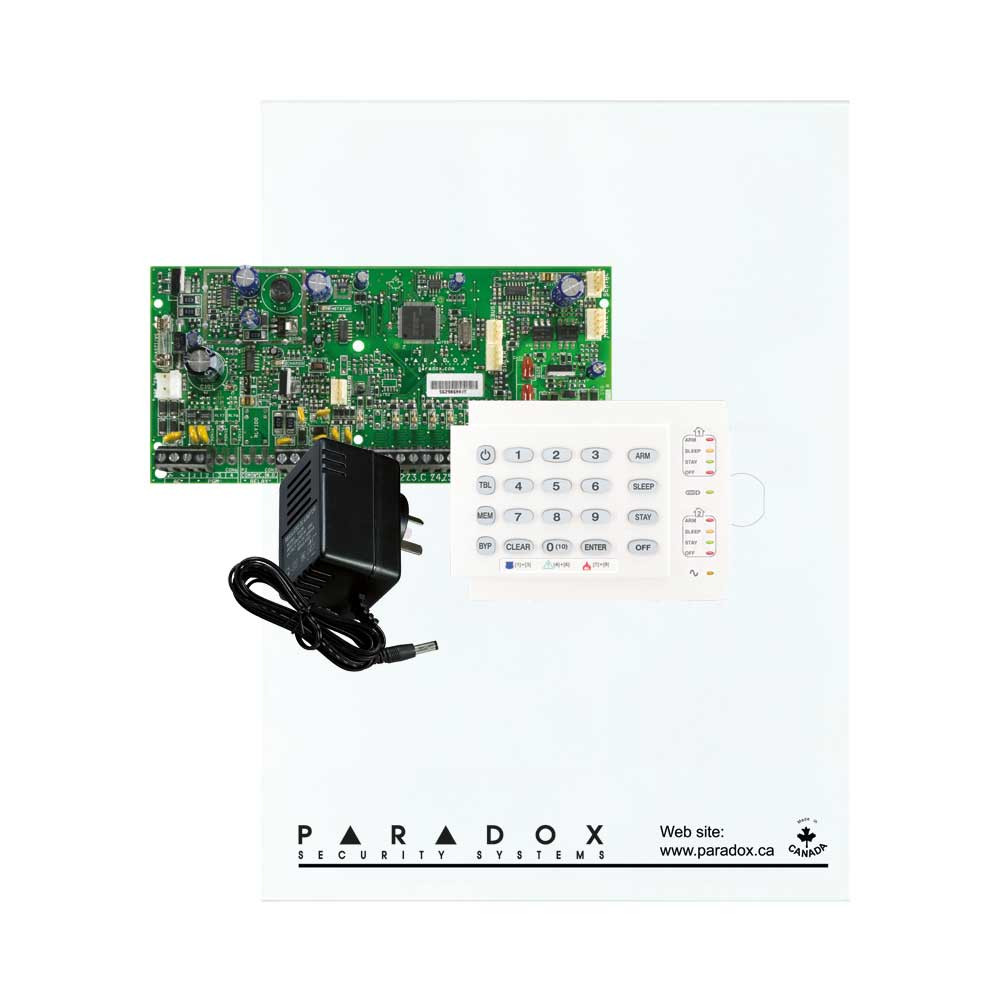 Paradox SP5500 with Small Cabinet, K10H Keypad & Plug Pack