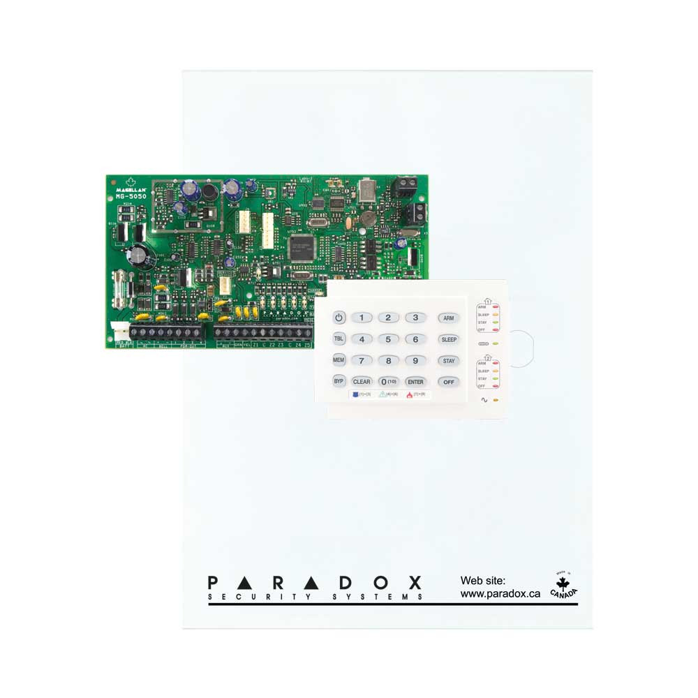 Paradox MG5050 with Small Cabinet & K10H Keypad
