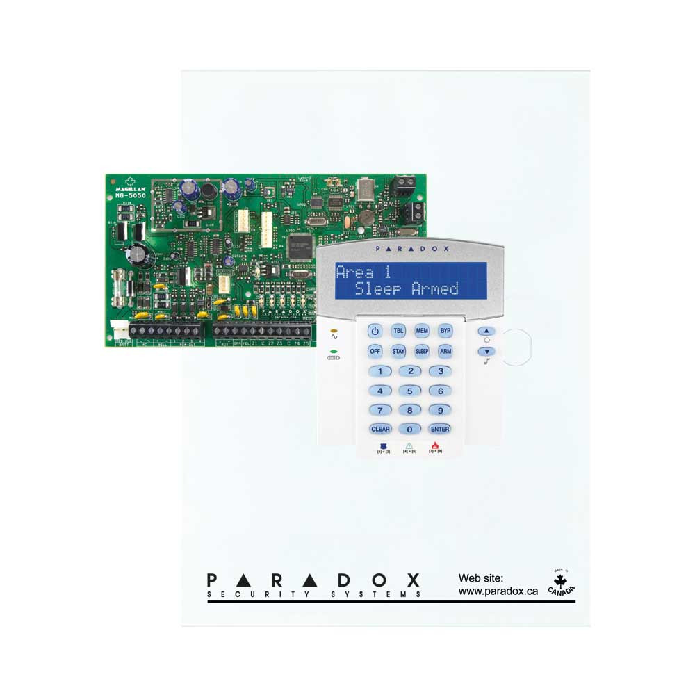 Paradox MG5050 with Small Cabinet & K32LCD Keypad