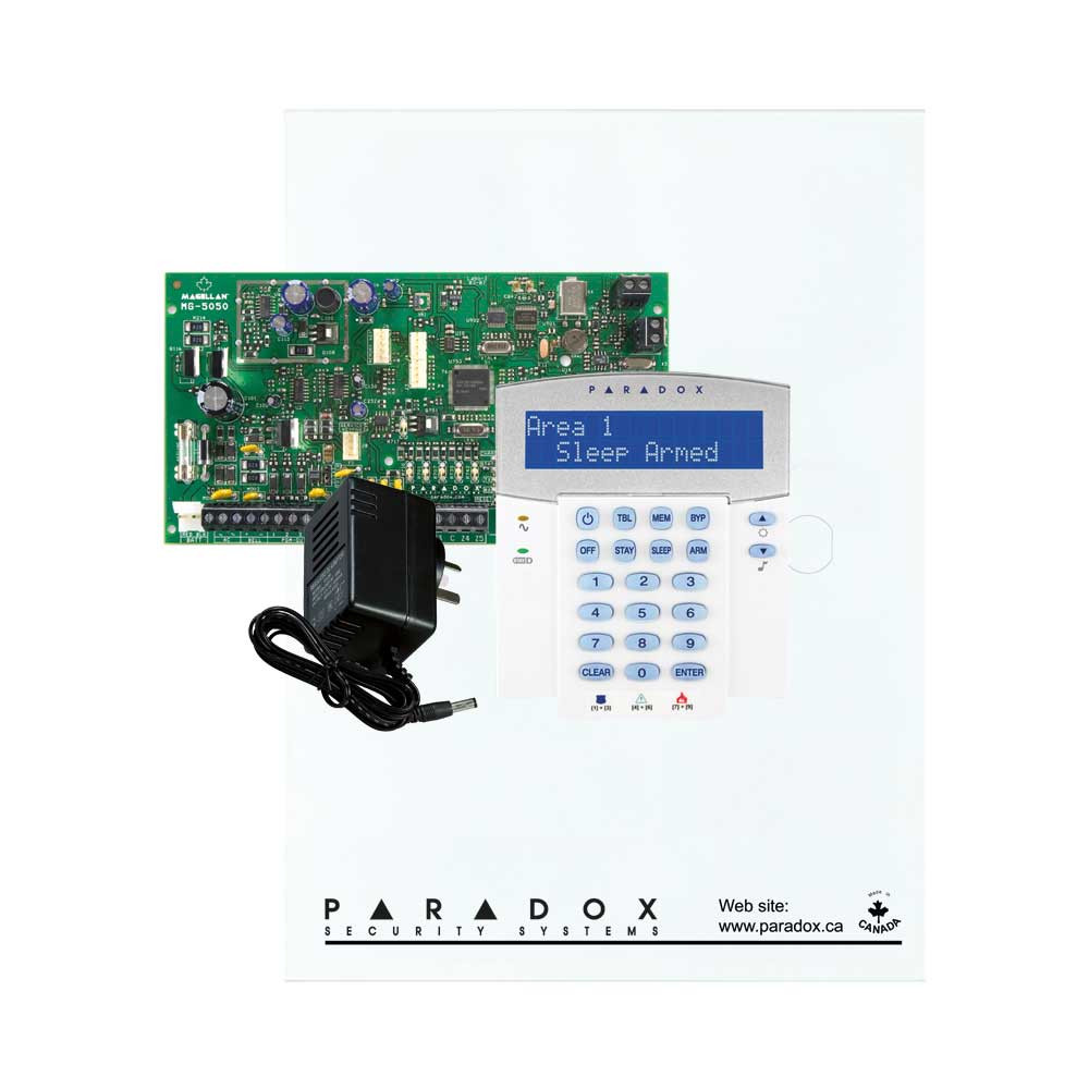 Paradox MG5050 with Small Cabinet, K32LCD Keypad & Plug Pack