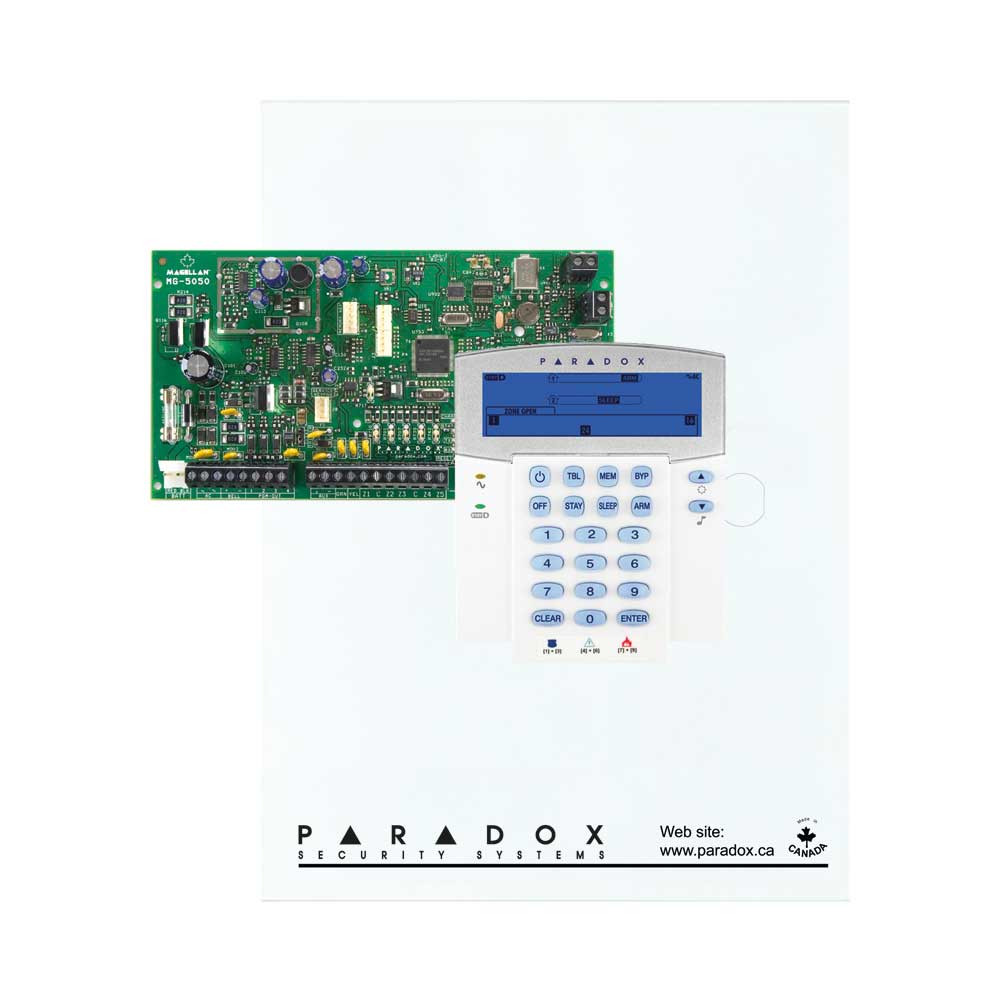 Paradox MG5050 with Small Cabinet & K35 Keypad