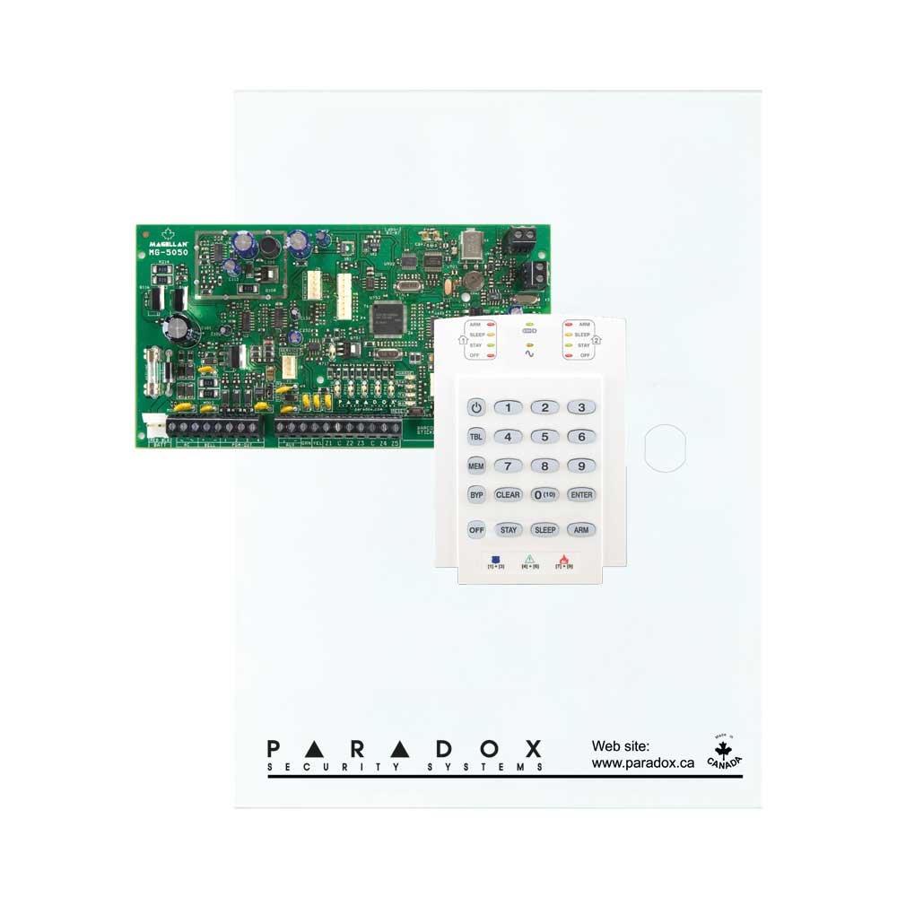 Paradox MG5050 with Small Cabinet & K10V Keypad