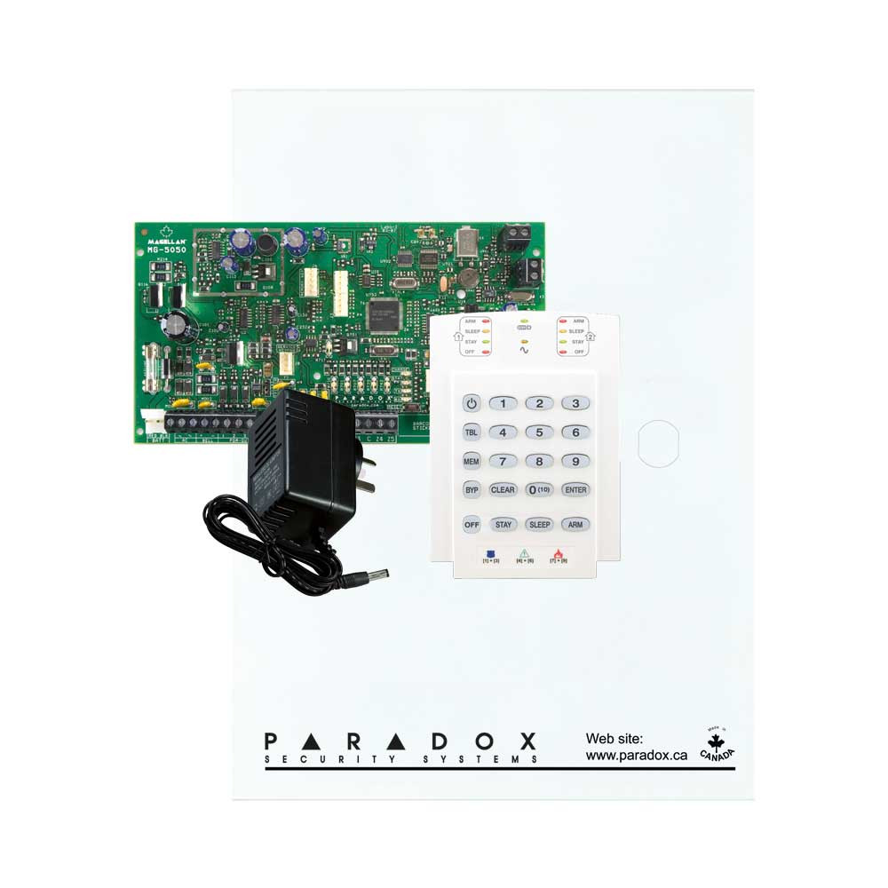 Paradox MG5050 with Small Cabinet, K10V Keypad & Plug Pack