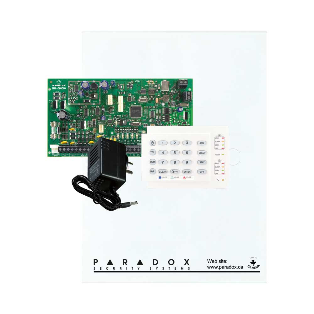Paradox MG5050 with Small Cabinet, K10H Keypad & Plug Pack