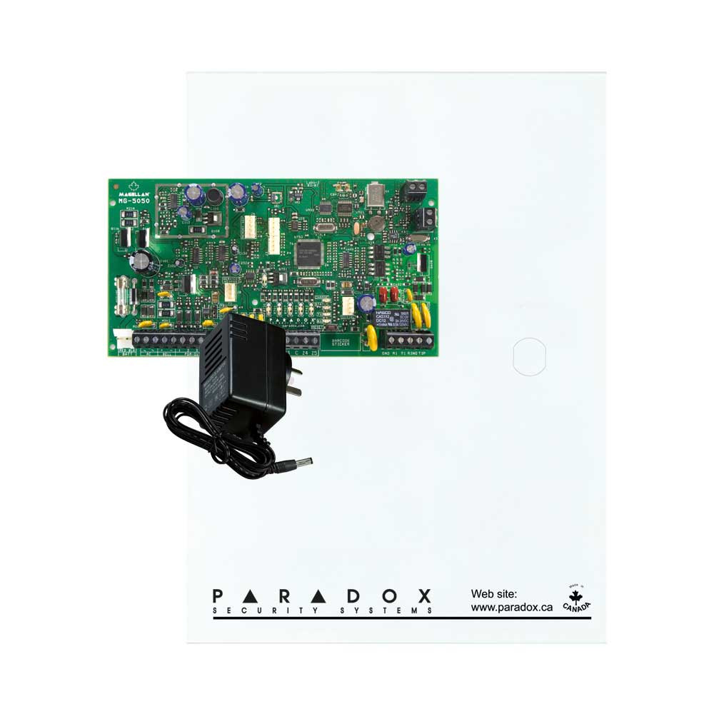 Paradox MG5050 with Small Cabinet & Plug Pack