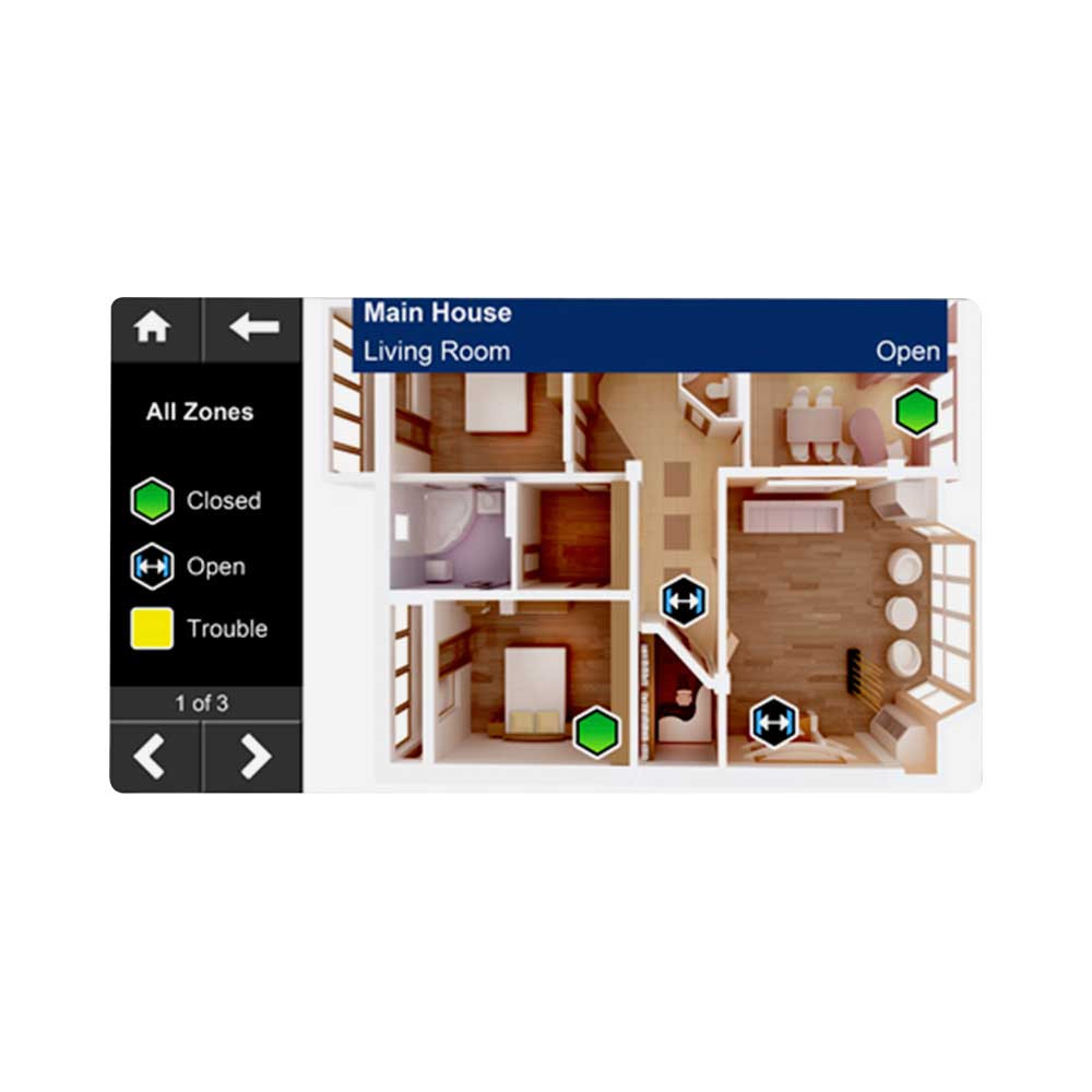 Paradox TM50 Touch - Spot On Locator & Onescreen Monitoring License