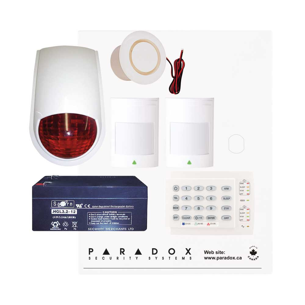 Paradox SP4000 Recession Buster Kit with Small Cabinet, K10H Keypad & PC7 External Siren