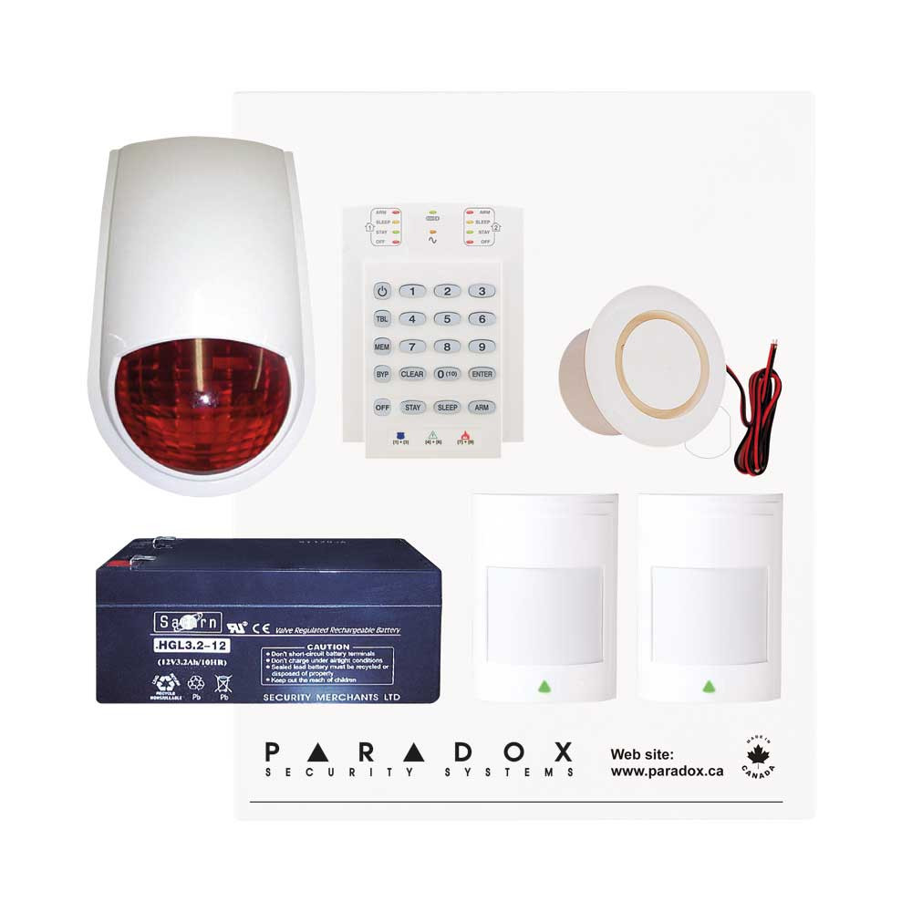 Paradox SP4000 Recession Buster Kit with Small Cabinet, K10V Keypad & PC7 External Siren