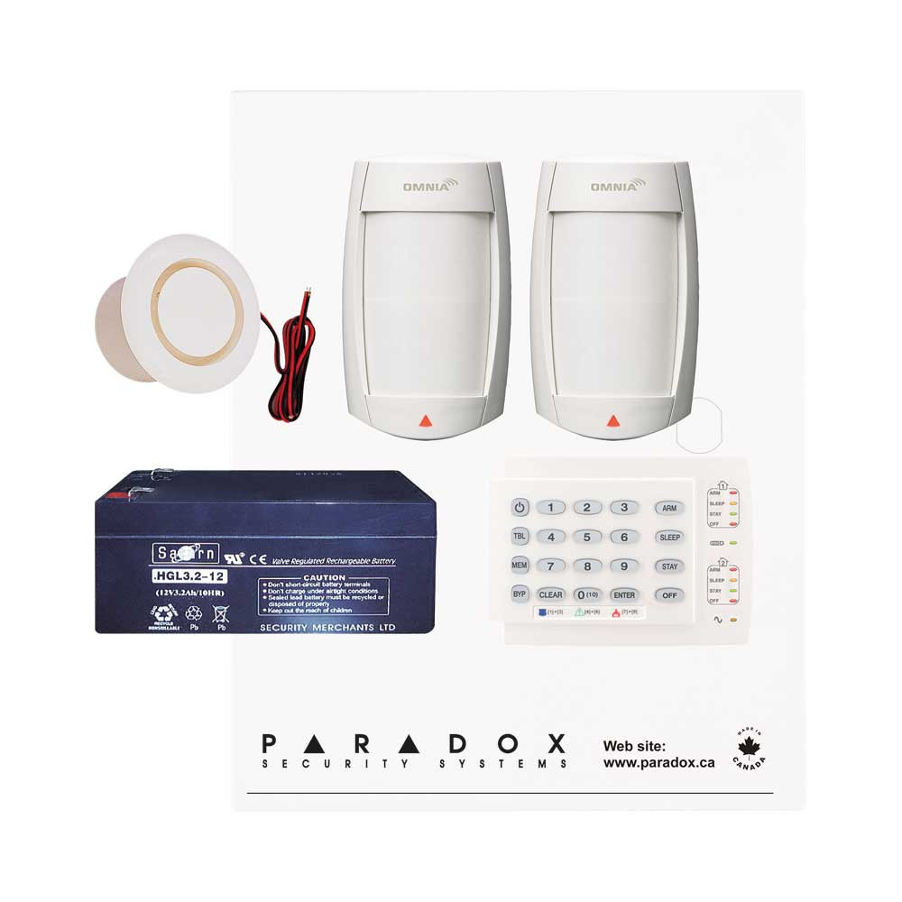Paradox MG5050 PMD75 Kit with Small Cabinet & K10H Keypad