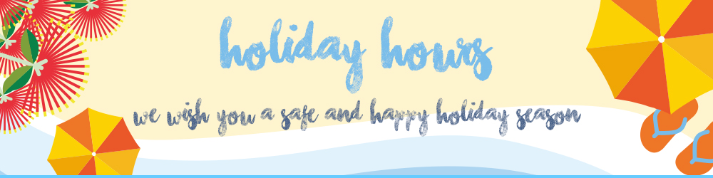 Operating Hours for Holiday Season 2015-2016