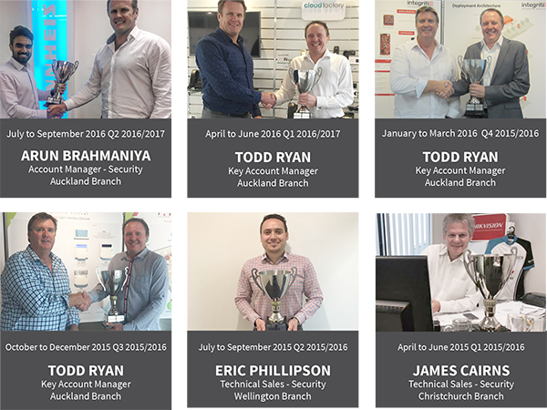 Quarterly Sales Awards - Past Winners